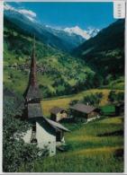 Chapelle De St. Jean, Val D'Anniviers Avec Fond Le Village De Mission, Le Zinalrothorn Et Le Besso - VS Valais