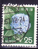 Japan - Hortensie (Hydrangea Sp.) (MiNr: 933) 1966 - Gest Used Obl - 1926-89 Emperor Hirohito (Showa Era)