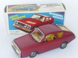 VINTAGE ! RARE !! China 60s Friction Tin Toy Modern Sedan Sound Effect With Box (MF234) - Toy Memorabilia