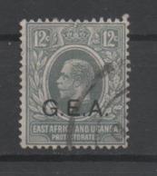 Tanganyika GEA, Used, 1917, Michel 12 - Tanganyika (...-1932)