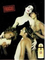 """Carte Postale Jean-Paul GAULTIER """"FRAGILE""""  - Perfume Card USA - Duftkarten"""