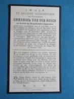 DP Monseigneur Emmanuel Van Den Bosch Antwerpen Edingen Brugge - Devotieprenten