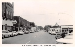 STAYNER, ONT - MAIN STREET ~ A OLD REAL PHOTO POSTCARD #987011 - Ontario