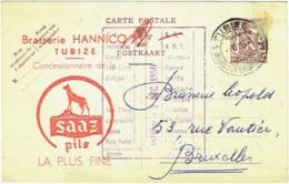 Entier Publicité Bière. Tubize. Brasserie Hannicq. Concessionnaire De La Saaz Pils. - Publicité