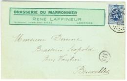 Publicité Bière. Leernes. Brasserie Du Maronnier. René Laffineur. - Publicité