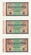 Lot De 3 Billets. Allemagne. Germany. Reichsbanknote 20000 Mark. 1923. - [ 3] 1918-1933 : République De Weimar