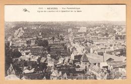 CPA Nevers, Vue Panoramique Eglise De Lourdes Et Le Quartier De La Gare, Ungel. - Nevers