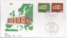 AK-div.29- 632   -  Ersttagsbrief -- Europacept  Aus 1969  Nr.  08909 - BRD