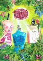 """Grande Carte Glacée Jean-Paul GAULTIER  """"EAUX D'ETE - SUMMER FRAGRANCES""""  - Perfume Card ITALIE 2009 - 15 X 21 Cm - Duftkarten"""