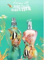"""Grande Carte Glacée Jean-Paul GAULTIER  """"EAUX D'ETE - SUMMER FRAGRANCES""""  - Perfume Card ITALIE - 15 X 21 Cm - Duftkarten"""