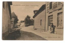 CPA 38 VILLENEUVE-DE-MARC SORTIE DU VILLAGE - Frankrijk