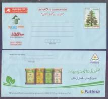 PAKISTAN POSTAL STATIONERY 2019 - Rs.20 DEODAR TREE Envelope Advertise Of FATIMA FERTILIZERS On Reverse Side, Unused - Pakistan