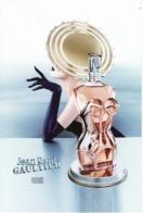 Rare Double Carte Jean-Paul GAULTIER  The Encounter - La Rencontre  - 2 Patchs Elle & Lui à L'intérieur - USA - Cartes Parfumées