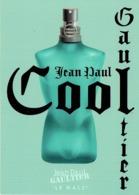 "Grande Carte Glacée Jean-Paul GAULTIER  ""LE MALE"" THIS SUMMER BE COOL- Perfume Card USA 2003 - Cartes Parfumées"