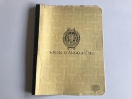 Couverture Cahier VELIN D'ANGOULEME - Libri