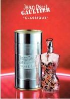 "Grande Carte Glacée Jean-Paul GAULTIER  ""CLASSIQUE"" Avec Patch Au Verso - Perfume Card USA - Cartes Parfumées"