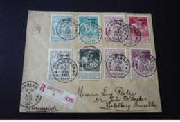Belgique. N°150024 .charleroy Pour Bruxelles.caritas 1911 .timbres .cachet . Obliteration Mixte.recommande - 1910-1911 Caritas