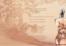 """Superbe Carte Postale Glacée Jean-Paul GAULTIER  """"CLASSIQUE"""" - Perfume Card USA - Duftkarten"""
