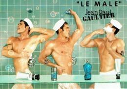 """Rare Carte Postale Jean-Paul GAULTIER  """"LE MALE"""" - Duftkarten"""