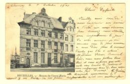 A0171[Postkaart] Bruxelles. - Maison Du Cheval Marin. (VED) Relais Cachet à étoiles Sterstempel Aankomst Franière 1901 - Marcophilie