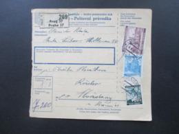 Böhmen Und Mähren 1942 Paketkarte MiF Freimarken Prag 37 Gewicht 7,2 Kilogramm - Briefe U. Dokumente