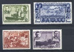 Timbres Dérive Polaire Du Brise-glace George Sedov Série Complète 1941 MNH - Polar Ships & Icebreakers