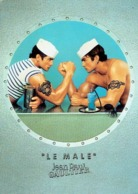 "Carte Postale Glacée Jean-Paul GAULTIER  ""LE MALE"" Avec Patch Au Verso - Perfumed Postcard USA - Duftkarten"