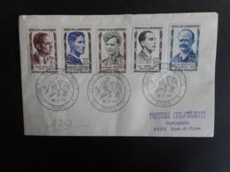 FDC - Les Héros De La Résistance, La Série Des 5 Valeurs - Oblit 20 Mai 1957 Paris - FDC