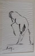 BE KY  Encre Sur Soie Signée Par L'artiste : CHEVAL RUANT / Ink On Silk / Painting / Peinture / Avant 1965 / Vietnam - Arte Asiatica
