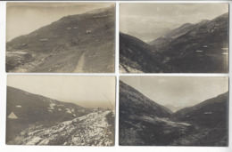 SERBIE 4 CPA CAMPAGNE FRANCO SERBE 1918 CARTE PHOTO /FREE SHIPPING REGISTERED - Serbie