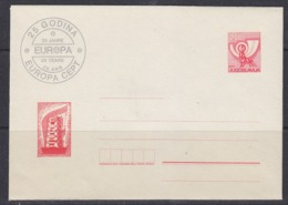 Yugoslavia 1981 25Y Europa Postal Stationery Cover + Postcard Unused (45104) - Europa-CEPT