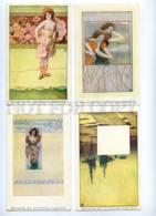 189346 Ebbe Und Flut HO Set 10 Card ART NOUVEAU PHILIPP KRAMER - Illustrators & Photographers