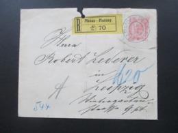 Österreich 1900 GA Umschlag R-Brief / Einschreiben Planan - Planany Böhmen Nach Leipzig - Briefe U. Dokumente