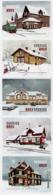 Sweden - 2019 - Railway Station Buildings - Mint Self-adhesive Booklet Stamp Set - Sweden