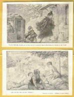 1921 Rare 10 Dessins De Presse Pub NESTLE Illust. Leandre Morin Matet Roubille Metivet Prejelan - Illustrators & Photographers