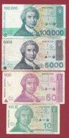 Croatie 4 Billets Dans L 'état ----(10) - Kroatië
