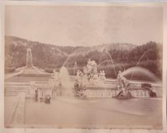 Photographie XIX E Caserta Cascata D'acqua Nel Giardino Reale   N° 5811  ( Ref 191431) - Luoghi