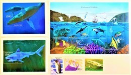 # Tanzania 1999**Mi.3861-77 Marine Animals , MNH [25;18] - Meereswelt