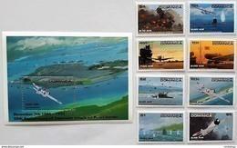 Dominica 1991**Mi.1442-49 + Bl.193. Pearl Harbor ,MNH [13;185] - Militaria
