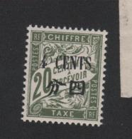 Faux Timbre De Chine Taxe N° 26 4 C Sur 20 C Duval Gomme Sans Charniére - Chine (1894-1922)