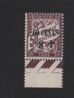 Faux Timbre De Chine Taxe N° 27 10 C Sur 50 C Duval Gomme Sans Charniére - Chine (1894-1922)