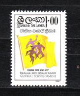 Sri Lanka  - 1986. Giochi Studenteschi: Pallavolo Stilizzato Su Bandiea. Student Games: Stylized Volleyball On Flag. MNH - Pallavolo