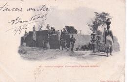 GUINEE PORTUGAISE(TYPE) COSTRUCTION D UNE CASE) - Guinea Bissau