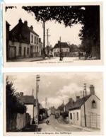1950 PONT De BRIQUES - 2 Cartes Animées Sur Le BOURG - Autres Communes
