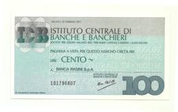 1977 - Italia - Istituto Centrale Di Banche E Banchieri - Banca Rasini S.p.A. - [10] Assegni E Miniassegni