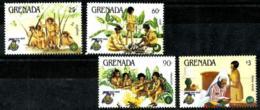 Granada Nº 1221/24 En Nuevo - Grenada (1974-...)
