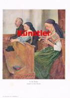 1404 Rene Reinicke In Der Kirche Kirchgang Kunstblatt 1914 !! - Estampes