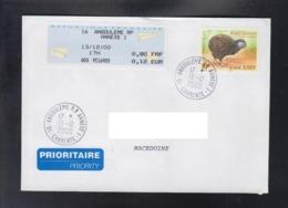 FRANCE, COVER, / PRIORITY, REPUBLIC OF MACEDONIA - Kiwi