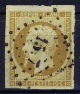 France:Yv 9 Obl./Gestempelt/used Left Bottom Thin Corner - 1852 Louis-Napoleon