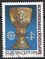 AUTRICHE   -  1976 .  Y&T N° 1345 Oblitéré.   EUROPA   /  Artisanat  /  Calice. - 1971-80 Used